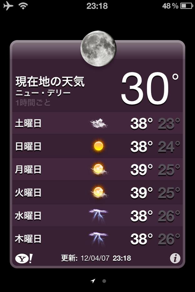 スマホで天気予報
